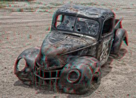 Abandoned Truck 3-D conversion by MVRamsey