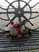 Tiny and Bridgey: On Southend Pier by RedNightDragon40