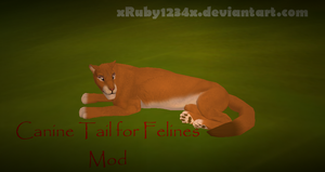 *Mod* - Canine Tail for Felines - FeralHeart by xRuby1234x