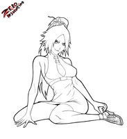 Yoruichi Shihoin - Line art by ZEROresolution