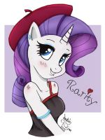 MLP FIM - Anthro Rarity by Joakaha