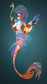 Mohawk Mermaid by Clovernight