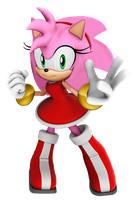 Modern Amy With Old Hair Style 3D Version by Silverdahedgehog06