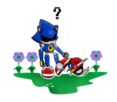 Metal Sonic and Badnik - Classic by Kath-the-shadow