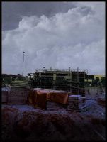 iPhoneography   Red  Tarp by Gerald-Bostock