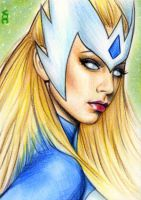 Snowbird Sketch Card 1 by veripwolf