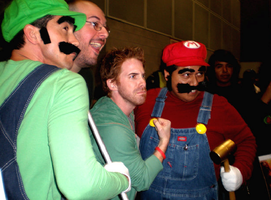 Super Mario and Luigi with Seth Green by Pabloramosart