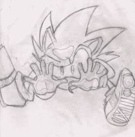 Sonic behind glass sketch by dbkit