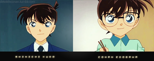 Shinichi and Conan by buhbiel
