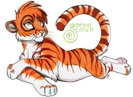 Spiral- Spiralkitty fursona by goldhound