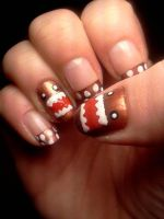 DOMO-kun Nail Art by CelestialGreen