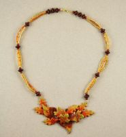 Autumn Leaves Choker Necklace by BeautifulEarthStudio