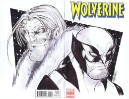 wolverine Sketch cover 02 by renecordova
