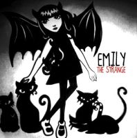 Emily The Strange and Her cats by SophFeeGee