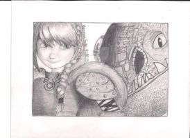 Astrid and Stormfly- Httyd 2 by aquavanessa27