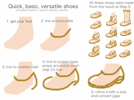 Quick basic versatile shoes by Lokinta