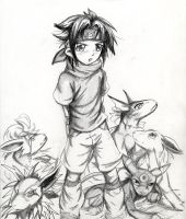 eh heh Sasuke and Pokemon by Soreiya