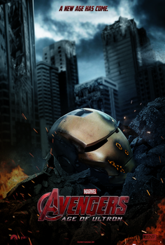 Avengers: Age of Ultron Movie Poster - Iron Man by AncoraDesign