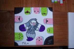 First MiLo 'painting' by Marki-san-Design