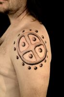 Sun wheel Tattoo by Stormpod