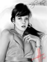 Lily Allen BW by Basaran00