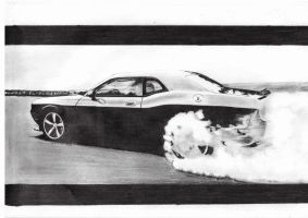 Dodge Challenger BURNOUT by mehmetmumtaz