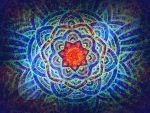 red star 7 rays cosmic blue vibration by santosam81