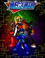 Team Mega Man by erik-red