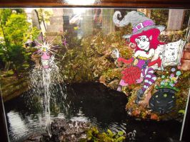 Witch at Pond Framed by nbee21