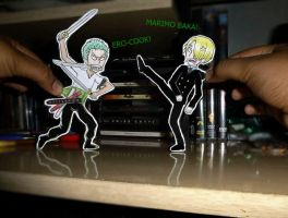 Zoro x Sanji Fight by JuhMCRmy