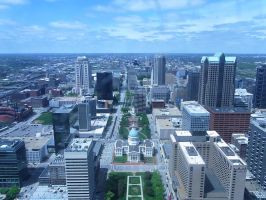From the top of gateway arch,St.Louis by worldhearts