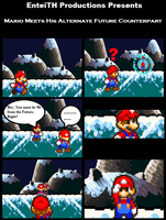 Mario Meets his Alternate Future Counterpart Comic by EnteiTheHedgehog