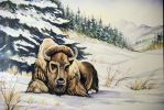 Yellowstone Winter Buffalo by HouseofChabrier