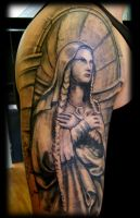 Mother Mary half sleeve by WildThingsTattoo