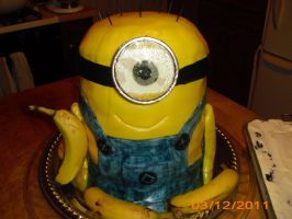 minion cake finished 3 by toastles