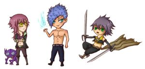 OC chibies by GhostAlly