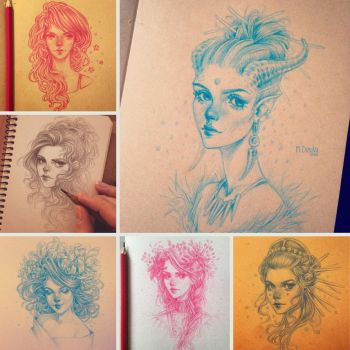 Sketchbook: pencil sketches by dimary