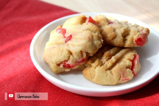 Candied Cherry Cookies (+YouTube Recipe by claremanson
