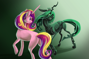 The Queen of the changelings by GrayPaint