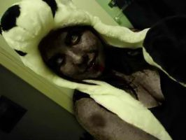 Me as a zombie in a panda hat by zukosexy16