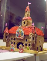 Peach's gingerbread castle by Mobicca