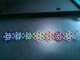 Chainmail Bracelet Jap 12 in 2 by RosiesPhotos
