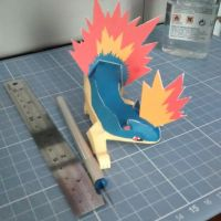 Pokemon Papercraft -  Quilava by DenisSensei