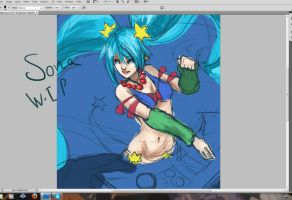 Oldschool Sona WIP by Kerozzart