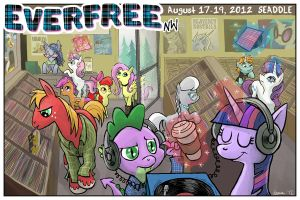Everfree NW poster! by Pedantia