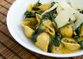 Spinach Pasta with Parmesan Shavings by iconsPhotography