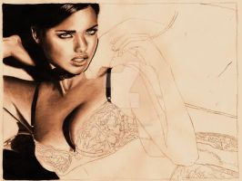 Adriana Lima Unfinshed by StarvingArtist513