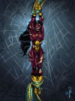 spider woman down by spidey0318