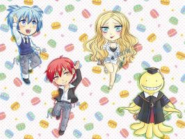 Assassination classroom chibies by SpigaRose