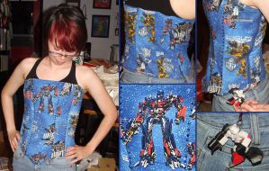 Transformers Corset by MerianMoriarty